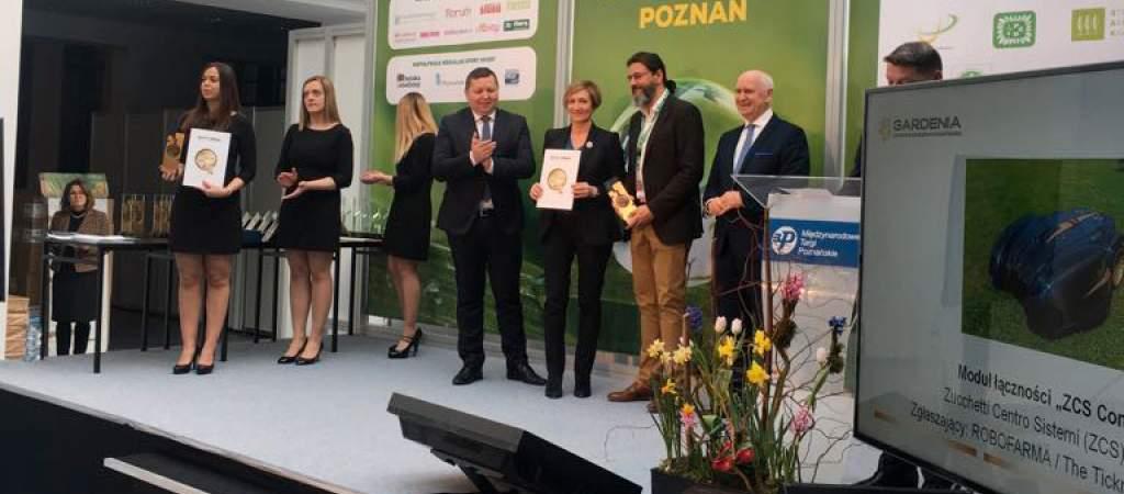 Ambrogio Robot premiato alla fiera Gardenia 2018 in Polonia