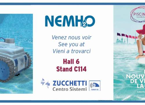 Piscine Global 2018: come to discover NEMH2O Robot, a revolution in pool cleaning!!
