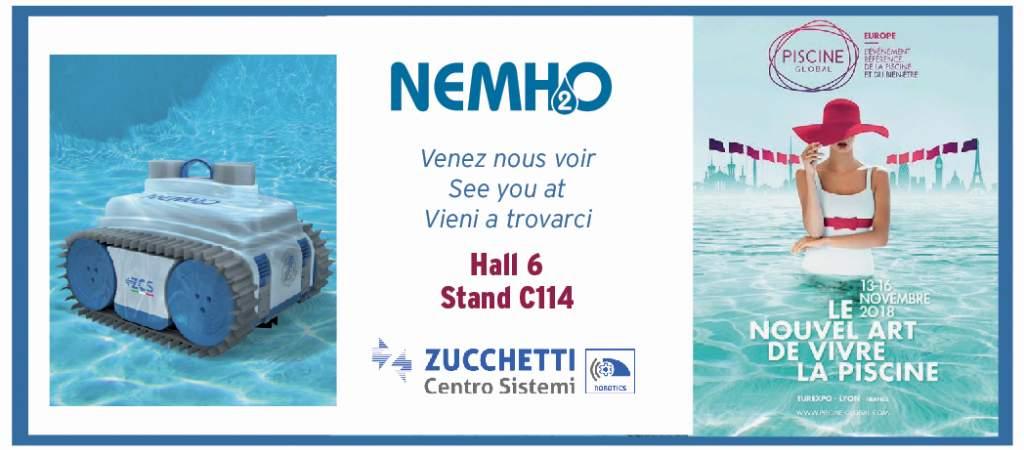 Piscine Global 2018: vieni a scoprire NEMH2O Robot, la rivoluzione nella pulizia della piscina!!