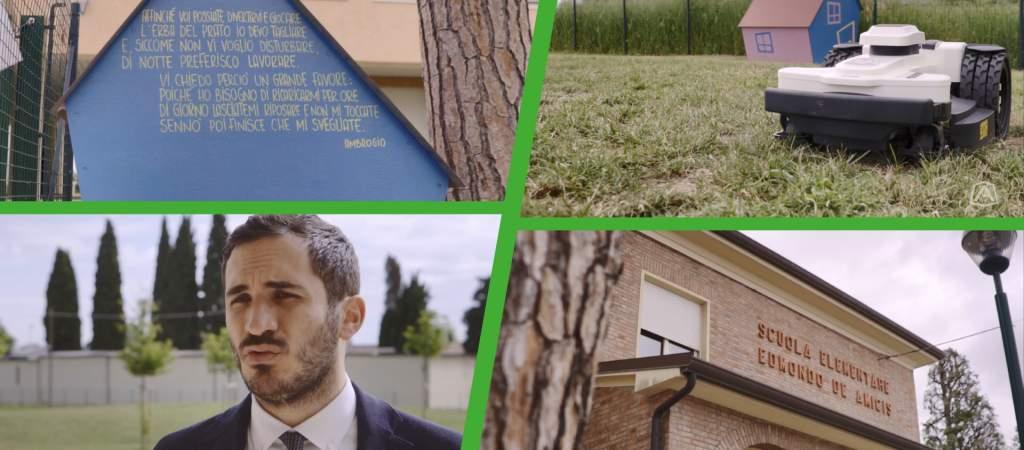 Il Comune di Cesena ha scelto Ambrogio Robot per il parco della Scuola S.Giorgio