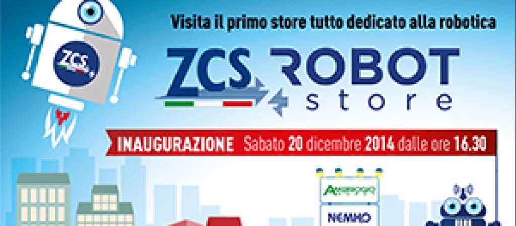 ZCS inaugura il Robot Store: il primo negozio interamente dedicato alla robotica
