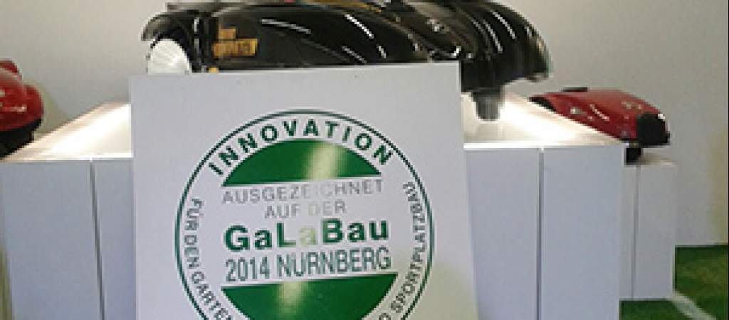 Prize for the Ambrogio L400 Elite at the 2014 Galabau trade fair