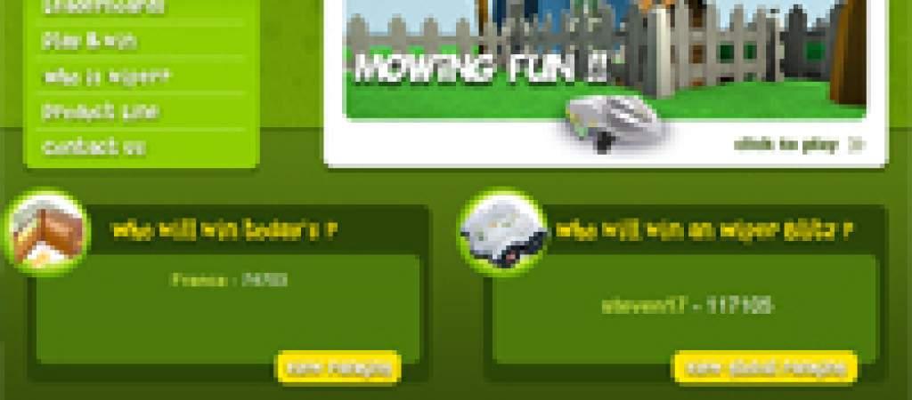 Gioca gratis e vinci un vero robot tagliaerba Wiper!